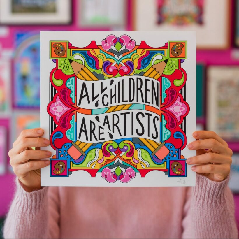 all children are artists print